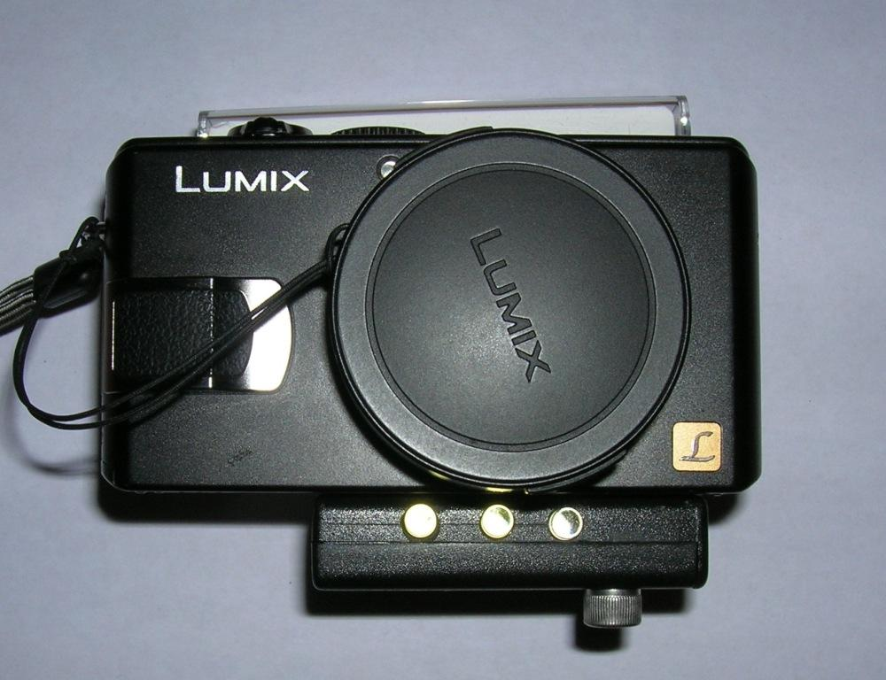 Prodmod DIY Camera Light mounted onto Lumix Camera