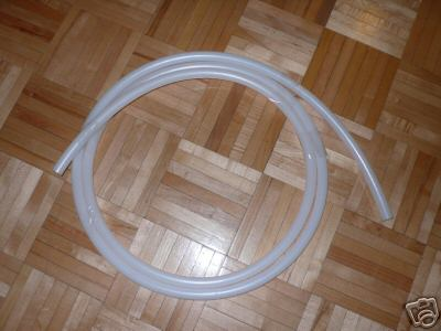 10.5 feet of 3/4″ diameter HDPE natural color tubing