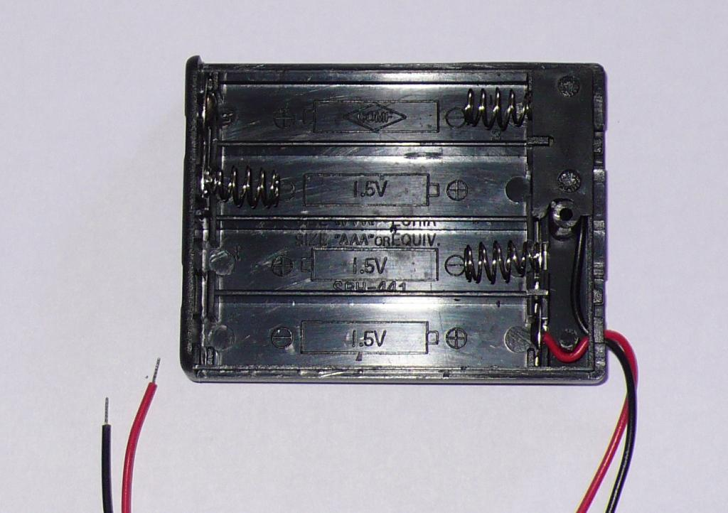 End of step one - one set of battery contacts removed