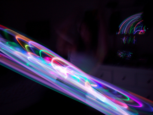 LED Hoop made with the ProdMod LED Hula Hoop Kit