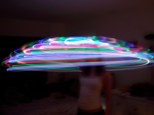 jill and her LED hoop