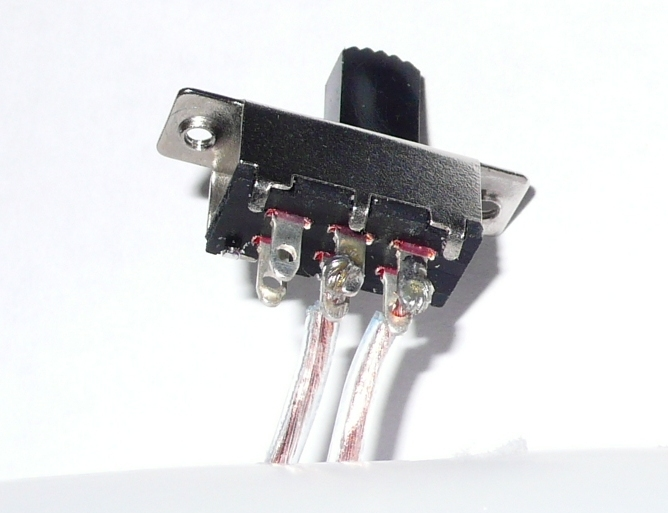 Solder wire to the switch