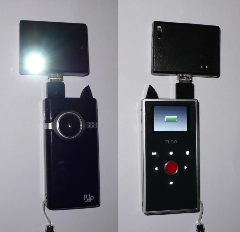 ProdMod Video Light and Charger for Flip Camcorder