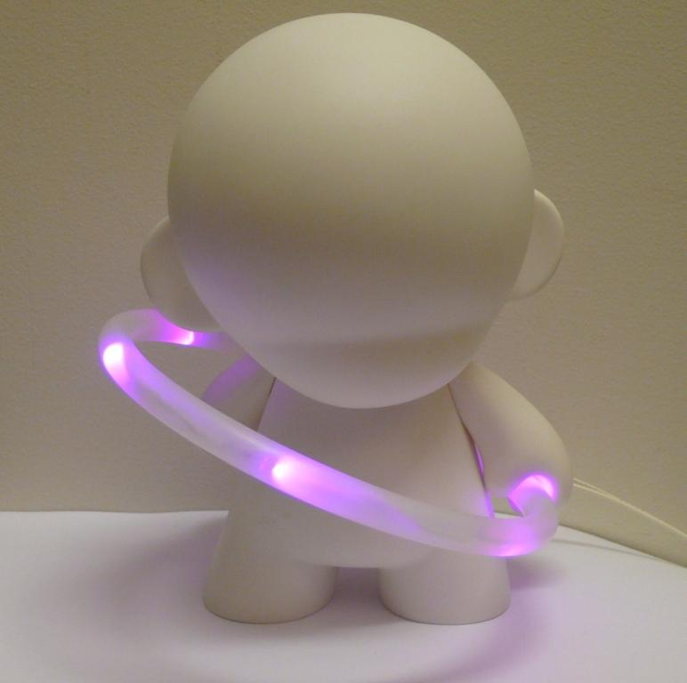ProdMod LED hoop for Munny in the light