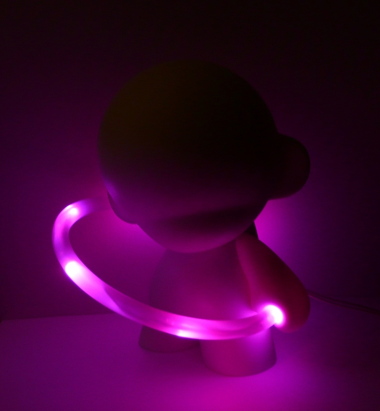 Munny with prodmod LED hoop