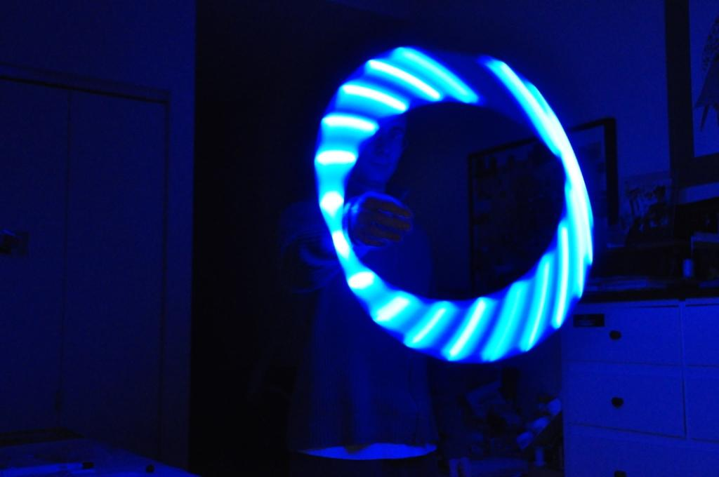 Blue 20 Inch LED Hoop