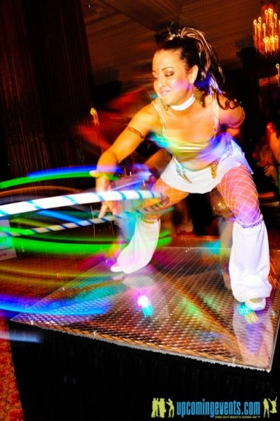 liana performing with her DIY ProdMod LED Hoop