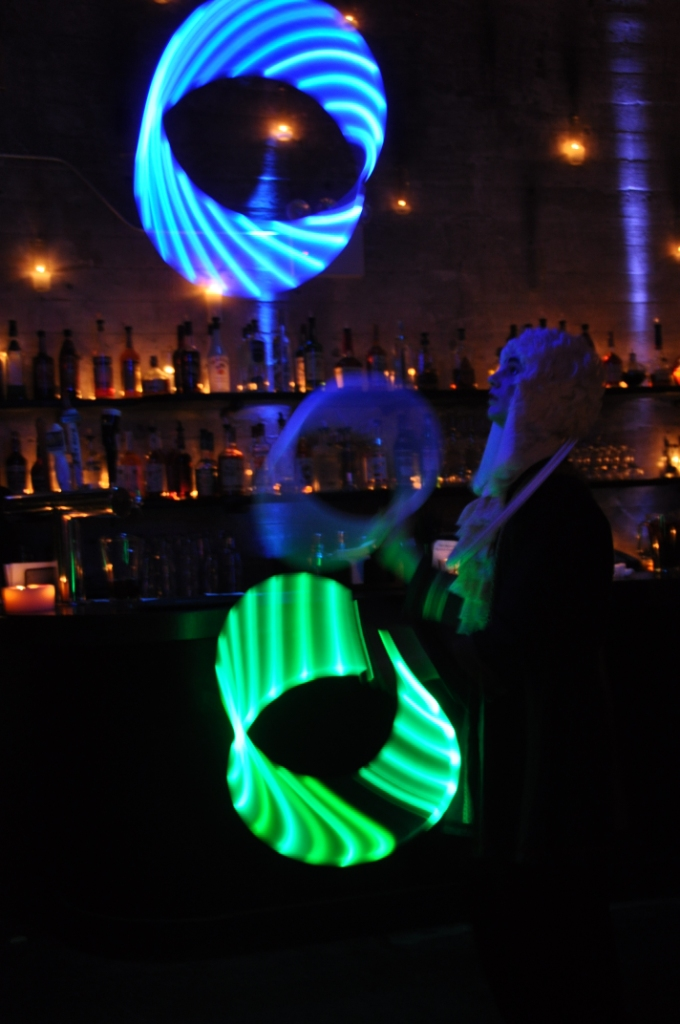 Michael Karas Juggles with a ProdMod 20 inch LED hoop