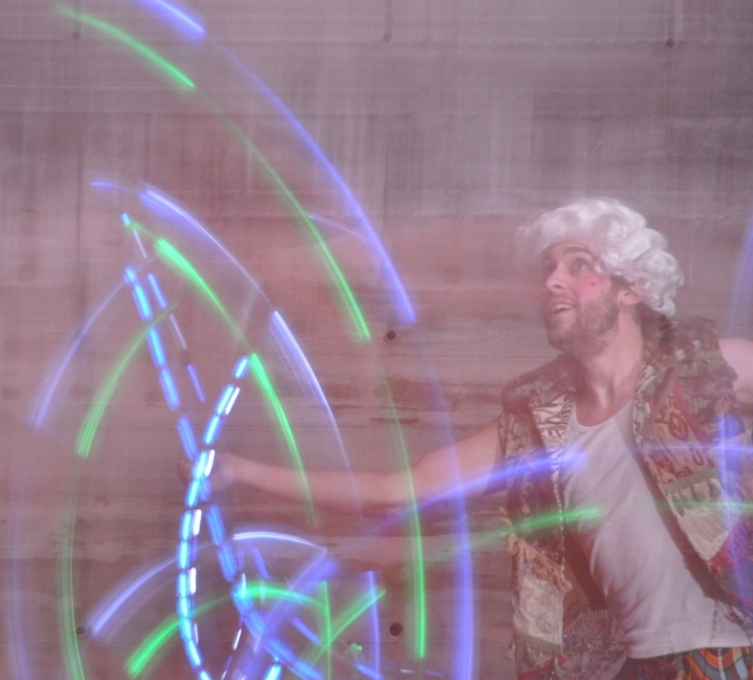 Sean of Gyronauts with LED Poi