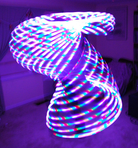 7 colro ribbon led twist